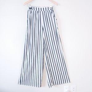 Zara High Waist Striped wide leg pants
